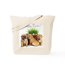 Easter Dogue de Bordeaux Tote Bag