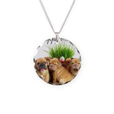 Easter Dogue de Bordeaux Necklace