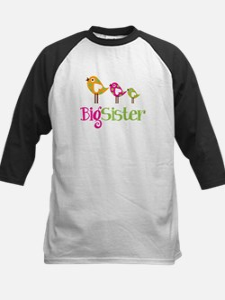 Tweet Birds Big Sister Kids Baseball Jersey