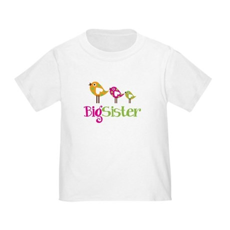 Tweet Birds Big Sister Toddler T-Shirt