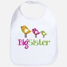 Tweet Birds Big Sister Bib