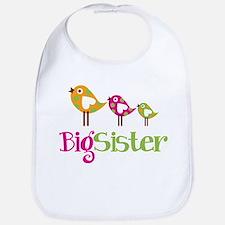 Tweet Birds Big Sister Bib