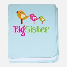 Tweet Birds Big Sister baby blanket
