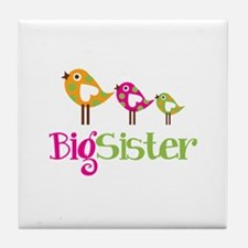 Tweet Birds Big Sister Tile Coaster