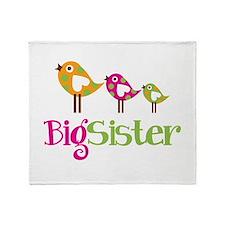 Tweet Birds Big Sister Throw Blanket