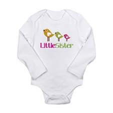 Tweet Birds Little Sister Long Sleeve Infant Bodys