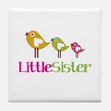 Tweet Birds Little Sister Tile Coaster