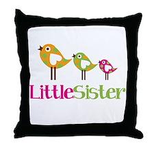 Tweet Birds Little Sister Throw Pillow
