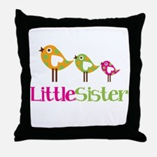 Tweet Birds Little Sister Throw Pillow