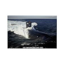 USS MONTPELIER Rectangle Magnet