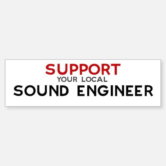 Support: SOUND ENGINEER Bumper Car Car Sticker