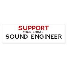 Support: SOUND ENGINEER Bumper Car Sticker