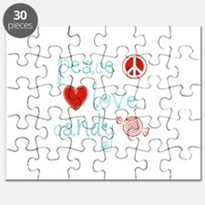 Peace, Love and Candy Puzzle