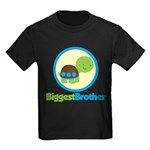 Turtle Biggest Brother Kids Dark T-Shirt