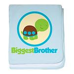 Turtle Biggest Brother baby blanket