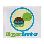 Turtle Biggest Brother Throw Blanket