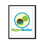 Turtle Biggest Brother Framed Panel Print