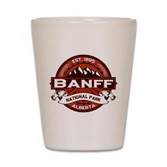 Banff Natl Park Crimson Shot Glass