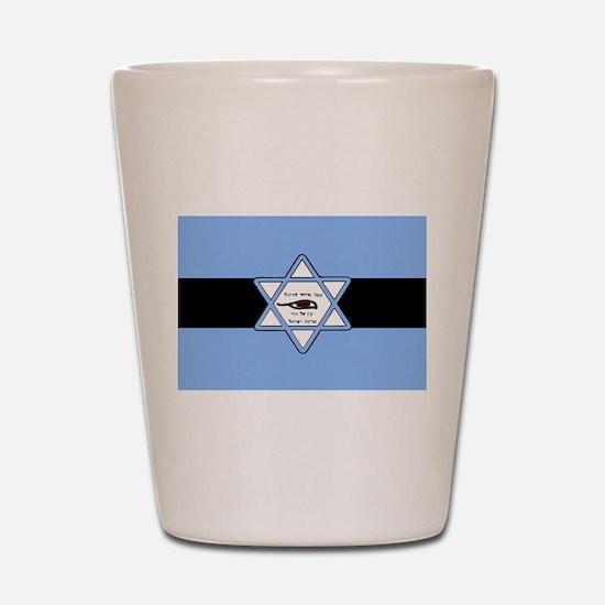Mossad Flag Shot Glass