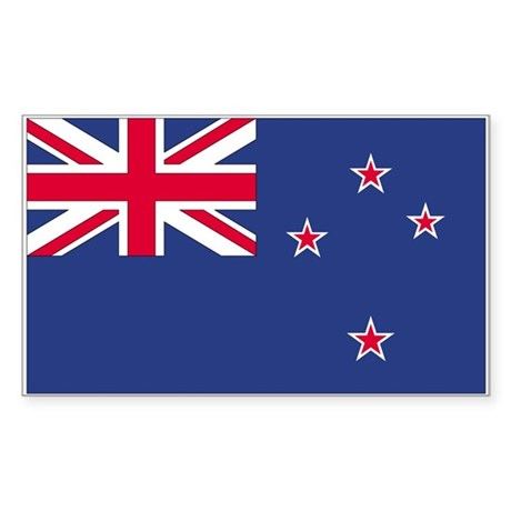 New Zealand Rectangle Sticker
