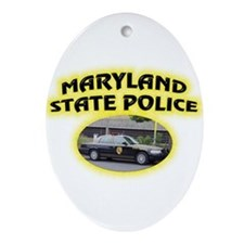 Maryland State Police Ornament (Oval)