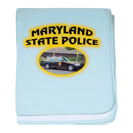 Maryland State Police baby blanket