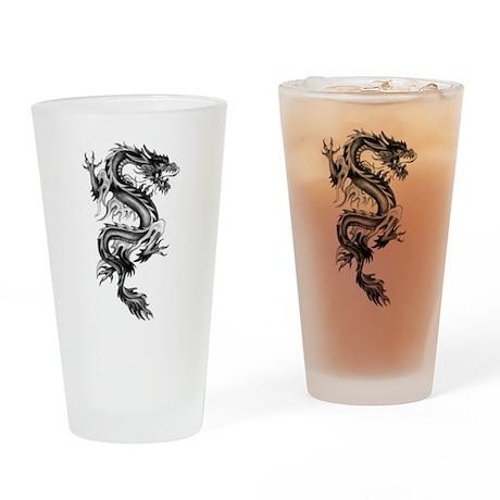 Flaming Dragon Drinking Glass