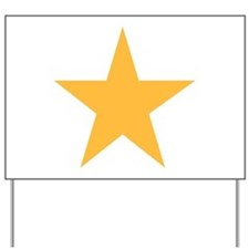 Five Pointed Yellow Star Yard Sign