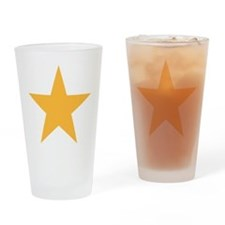 Five Pointed Yellow Star Drinking Glass
