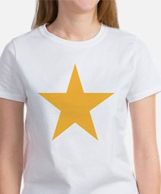 Five Pointed Yellow Star Women's T-Shirt