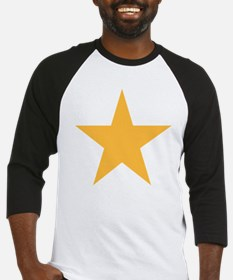 Five Pointed Yellow Star Baseball Jersey