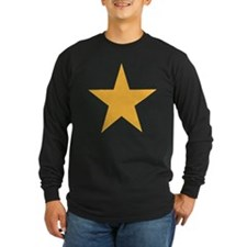 Five Pointed Yellow Star T