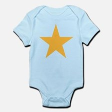 Five Pointed Yellow Star Infant Bodysuit