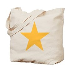 Five Pointed Yellow Star Tote Bag