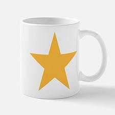 Five Pointed Yellow Star Mug