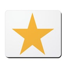 Five Pointed Yellow Star Mousepad