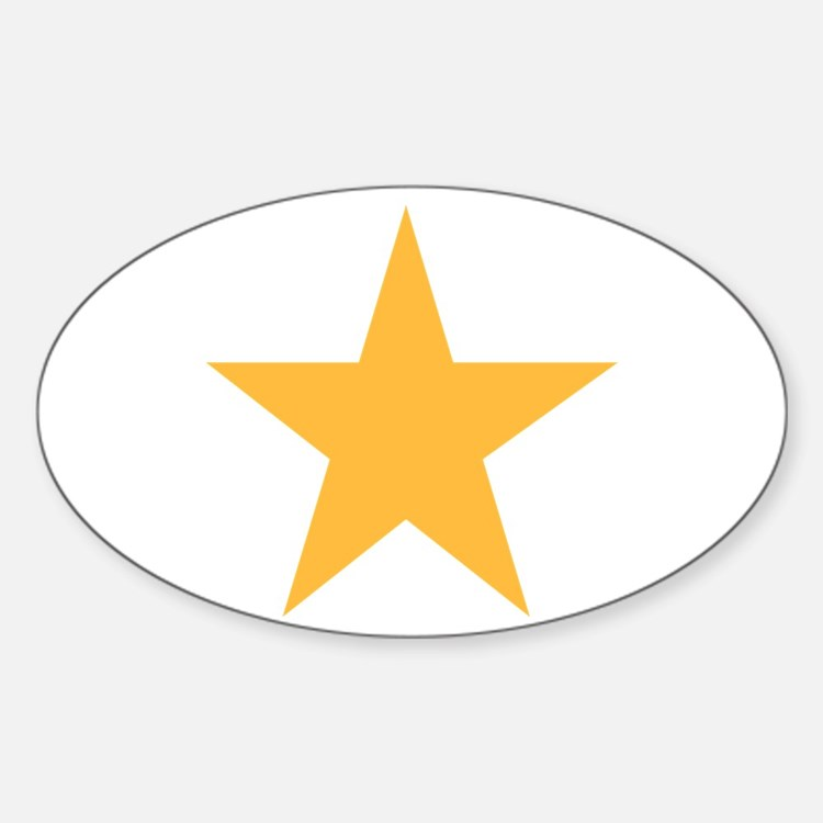 Five Pointed Yellow Star Decal