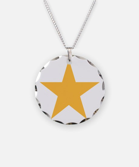 Five Pointed Yellow Star Necklace