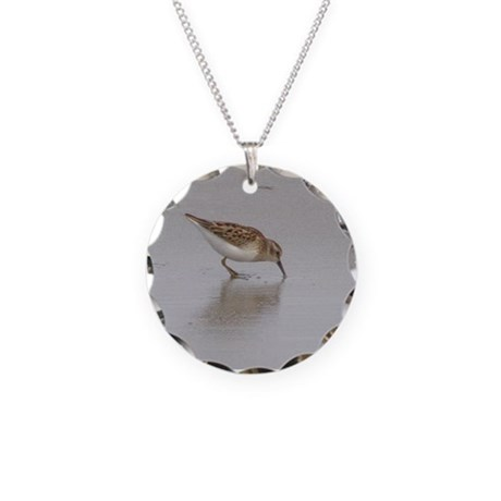 Sandpiper Necklace Circle Charm