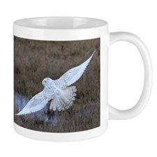 Snowy Owl in flight Mug