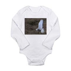 Snowy Owl flying Long Sleeve Infant Bodysuit