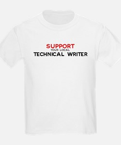 Support:  TECHNICAL WRITER Kids T-Shirt
