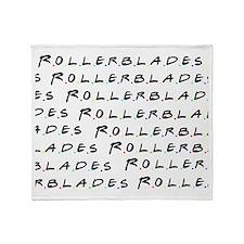 Rollerblades Fleece Throw Blanket