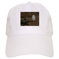 Snowy Owl Perched Baseball Cap