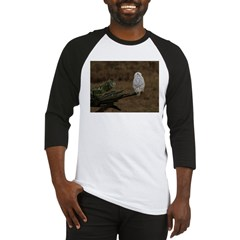 Snowy Owl Perched Baseball Jersey