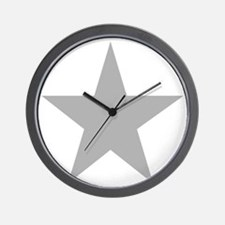 Five Pointed Grey Star Wall Clock