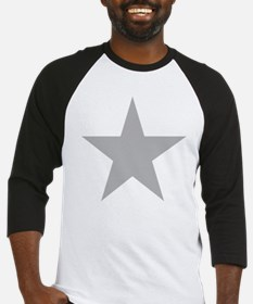 Five Pointed Grey Star Baseball Jersey