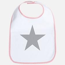 Five Pointed Grey Star Bib