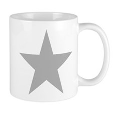 Five Pointed Grey Star Mug