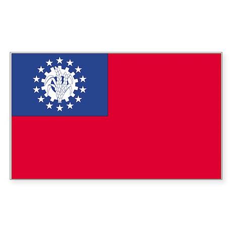 Myanmar Rectangle Sticker